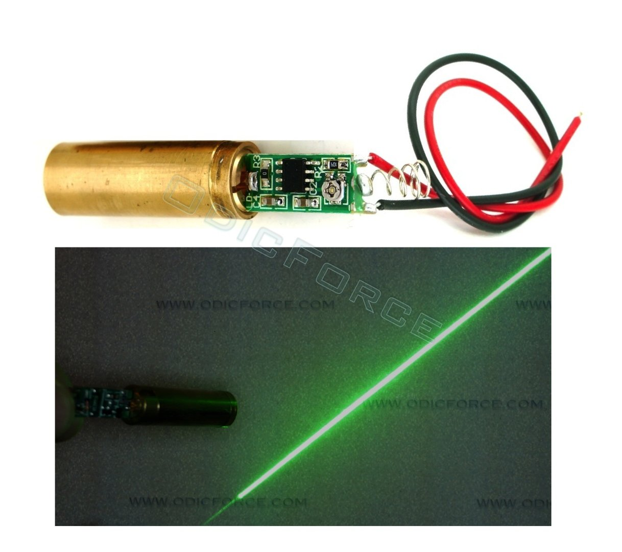 5mW Green (532nm) Line Laser Module (12mm)
