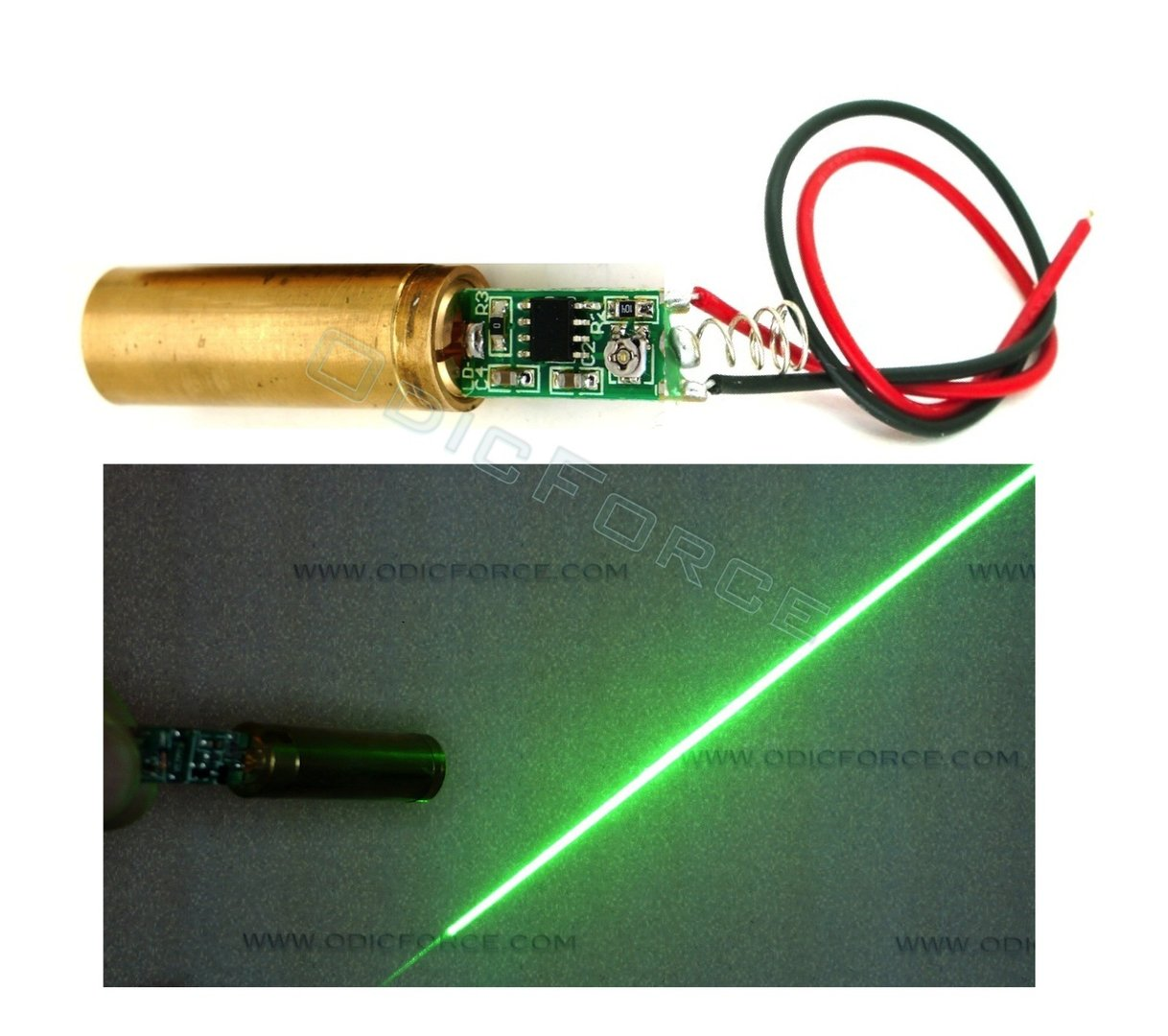 30mW Green (532nm) Line Laser Module (12mm)