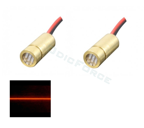 5mW Red (650nm) Mini Line Laser Module (9mm) 2-pack