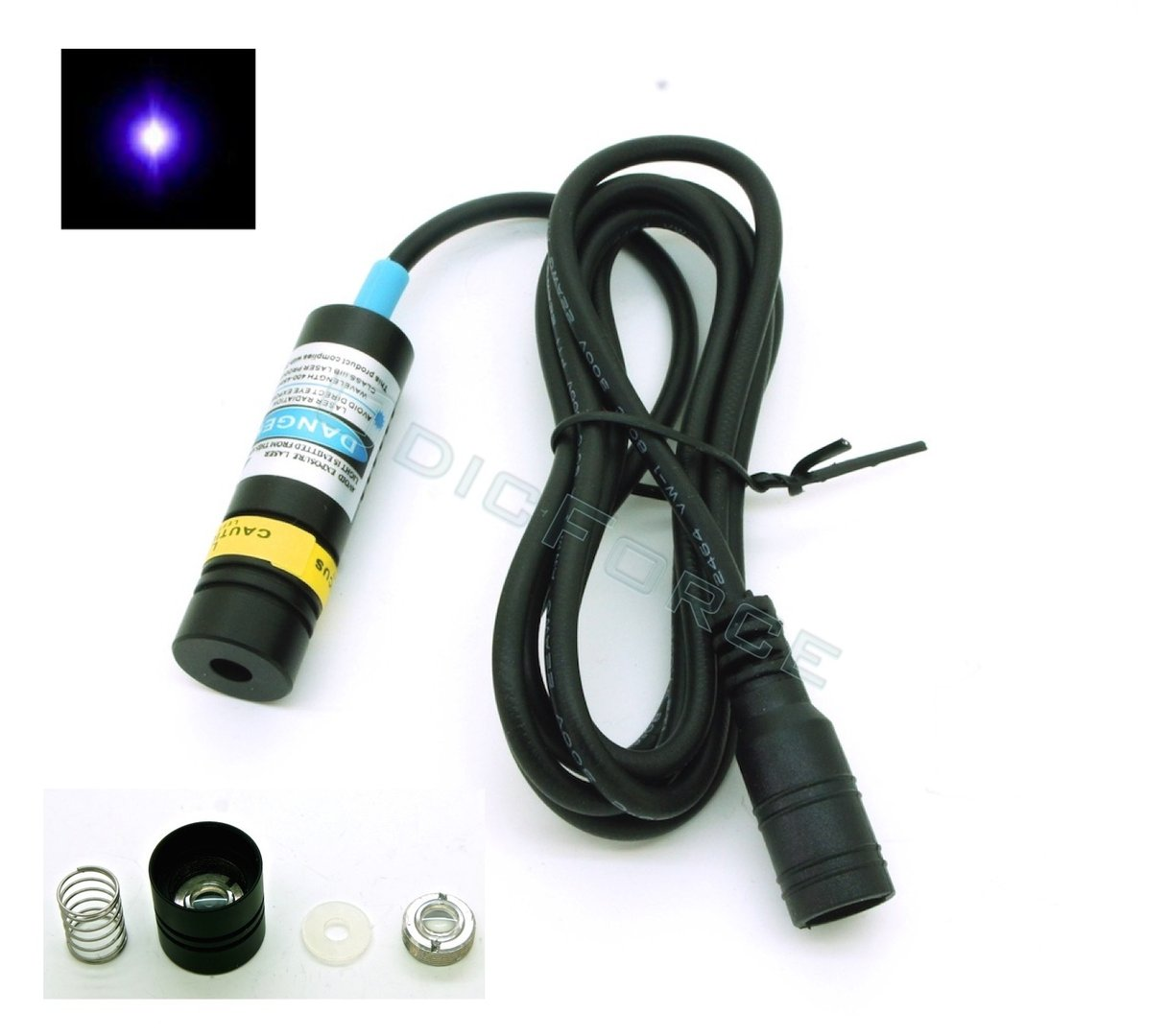 50mW 405nm Adjustable Focus Blue-violet Dot Laser Module  (14.5mm)