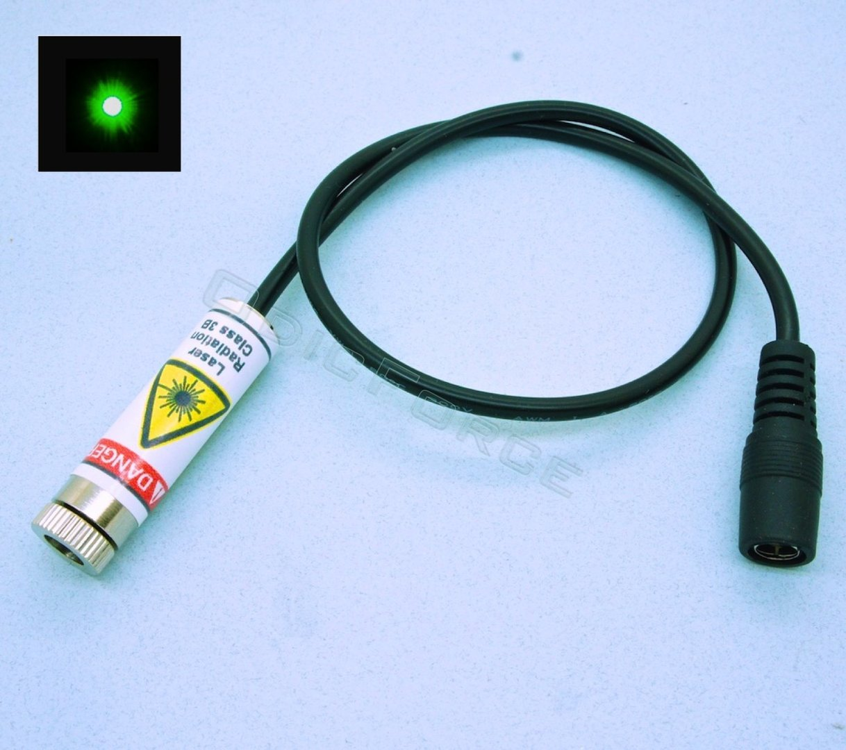 5mW Green (520nm) Direct Diode Laser Module Dot Pattern (12mm, 3-5V)