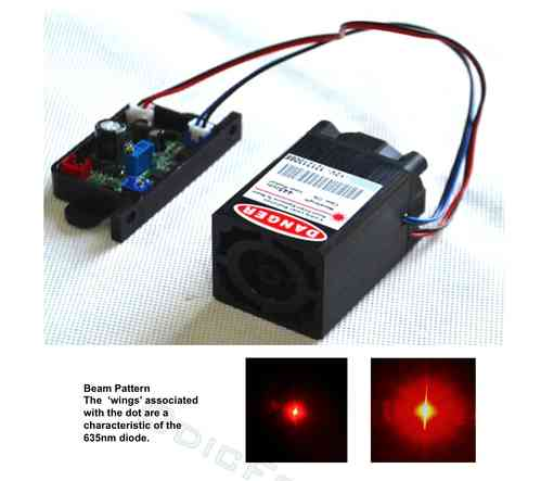 300mW Red-orange (635nm) Module with TTL  Modulation (12V) RL300