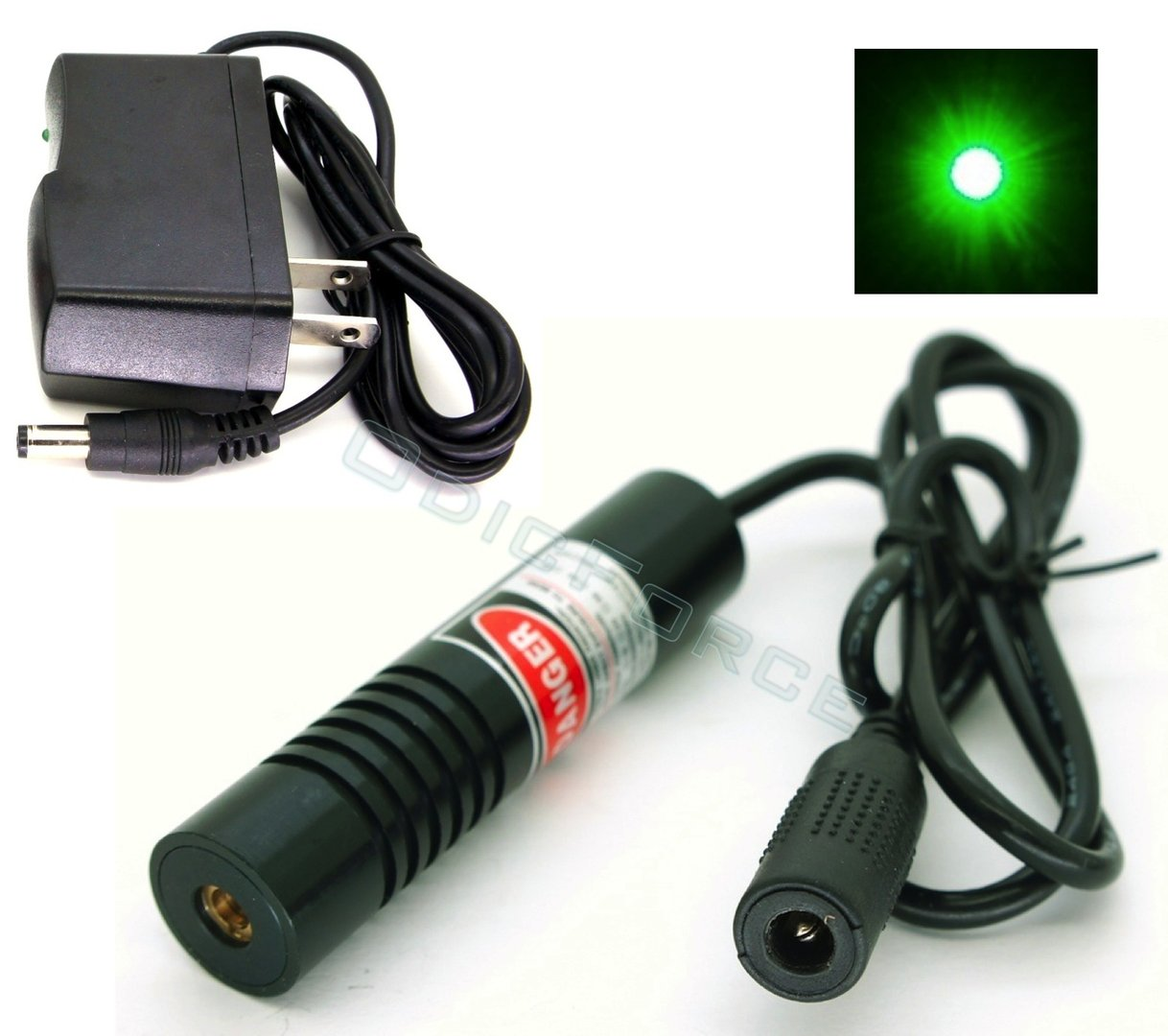 50mW Green (532nm) Laser Dot Module  (18mm) 5V