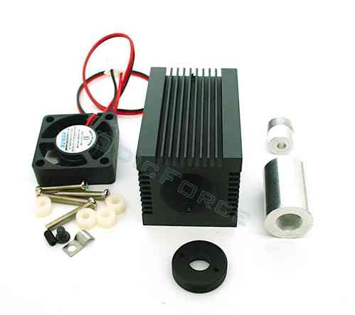 Heavy Duty Heatsink / Laser Diode Housing for 3.8 mm Diodes with Fan