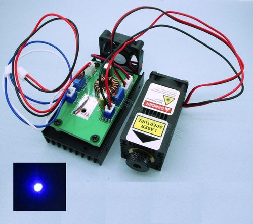 2W 450nm Blue TTL Laser Module with Adjustable Focus 12V (CNC Engraving)