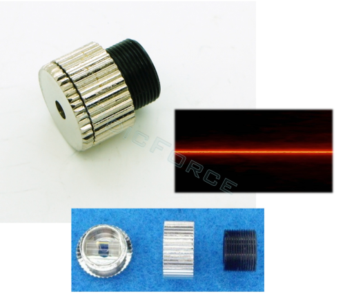 Line Generator Lens Assembly -9mm x 0.5mm Thread Focusing Glass Cylinder Lens