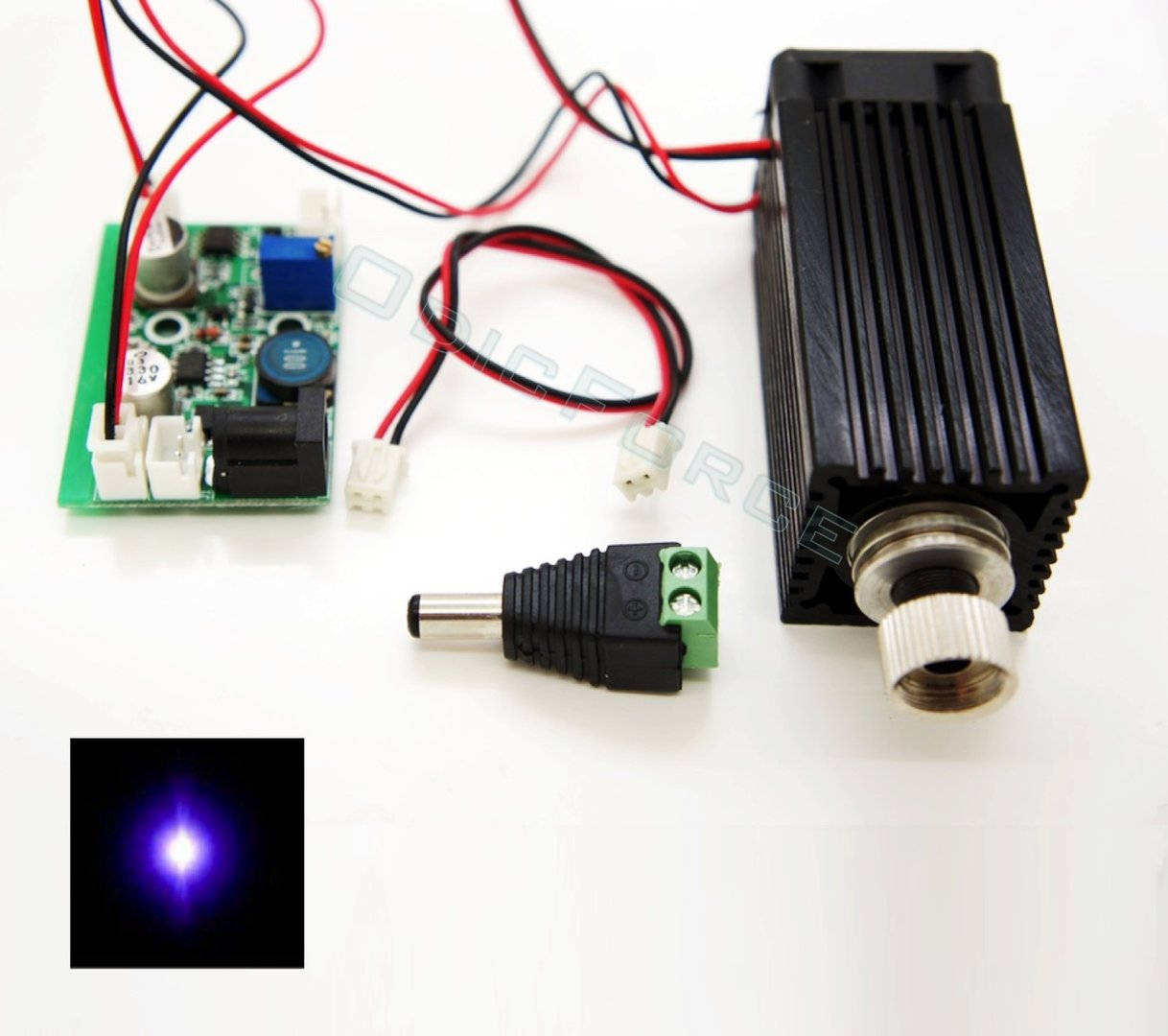 500-600mW 405nm (Bluray) Focusing Laser Module  12V
