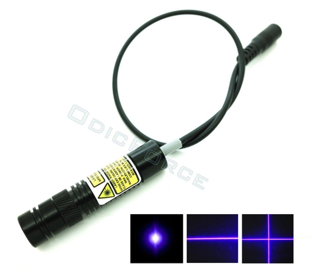 50mw 405nm Adjustable Focus Blue Violet Dot Line Cross