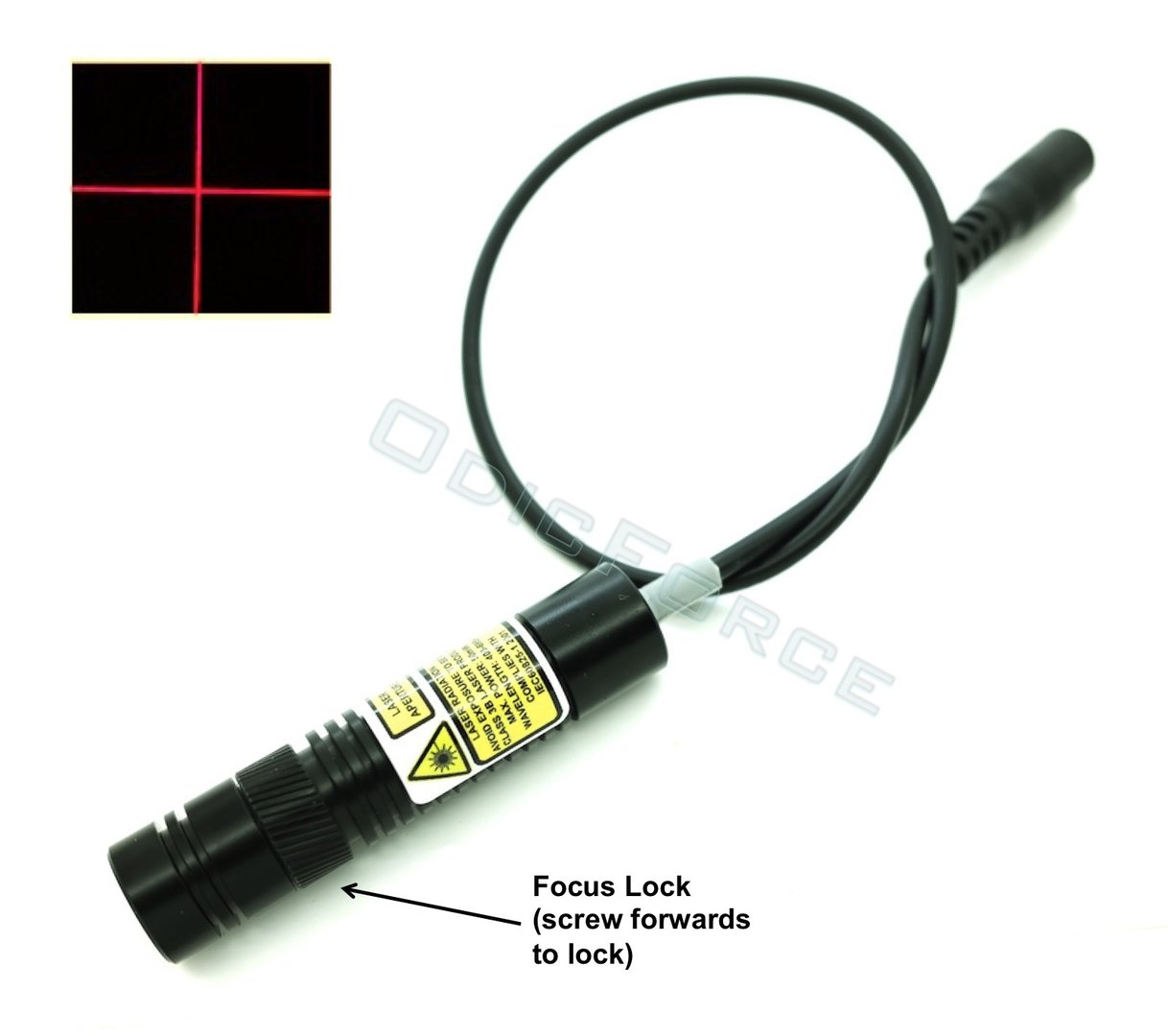 200mW Red Cross-Line Laser Module with Adjustable Locking Focus (16mm, 3-5V)