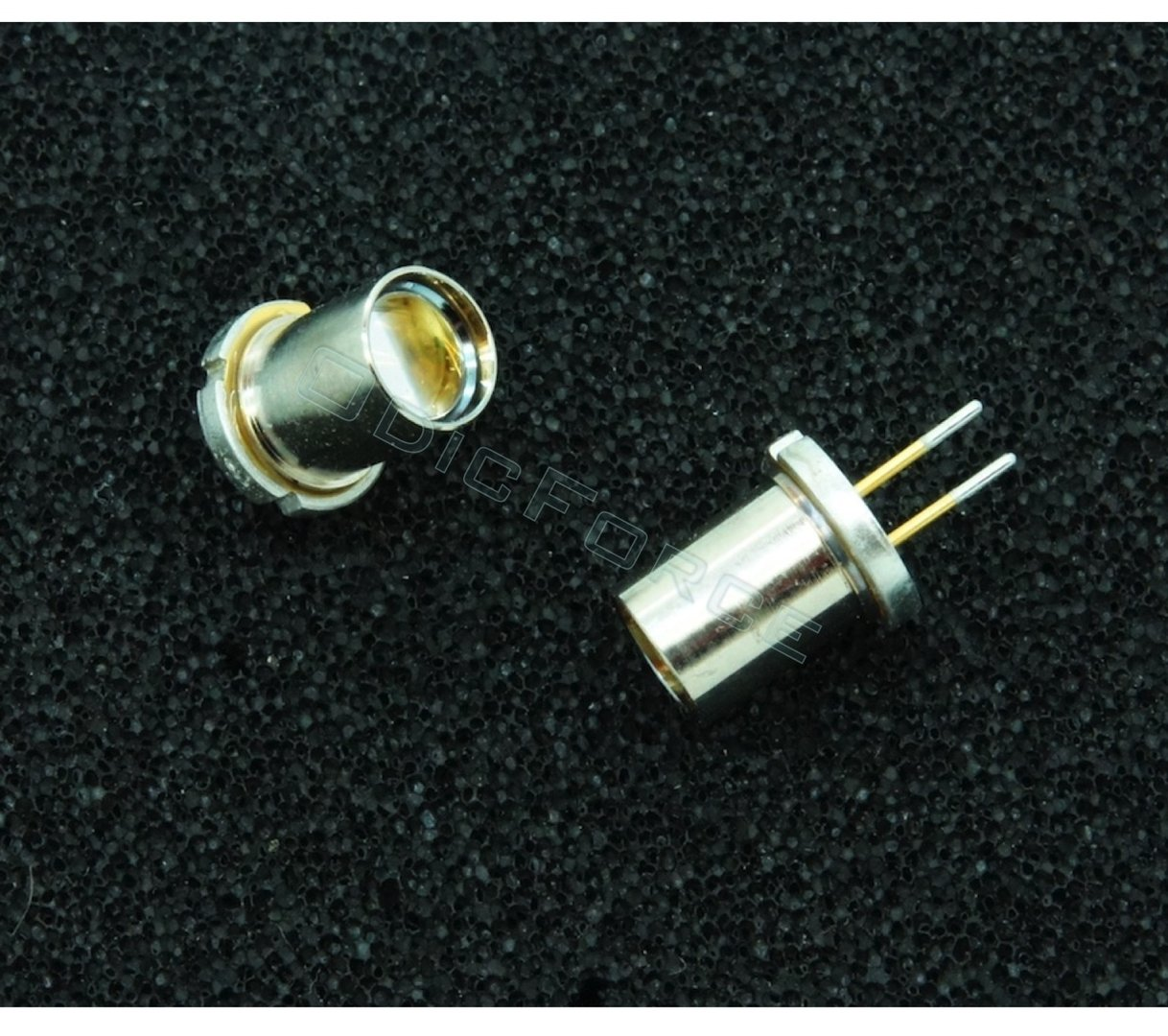 Nichia 4.3W+ 450nm Blue Laser Diode (9mm) NUBM08 (new, extracted with tinned pins and ball lens)