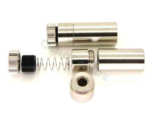 Laser Diode Housing Chrome, Standard Pattern (12mm x 30mm long for 5.6mm diodes)