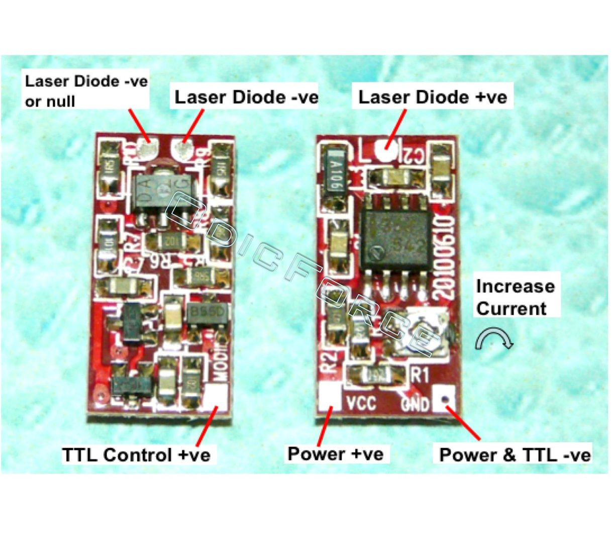 Laser Driver Board V1 - 30-330mA optional TTL