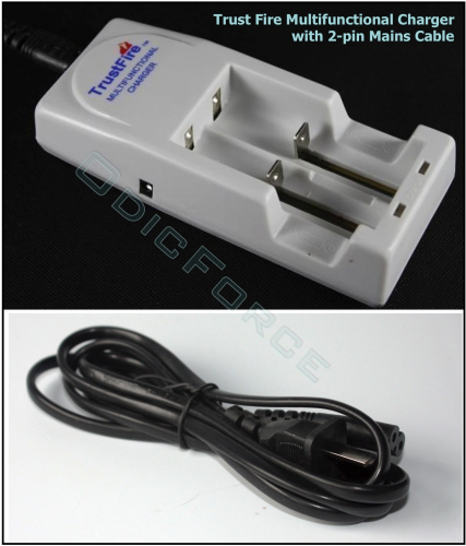 Trustfire Multifunctional Battery Charger (18650/16340/14500 etc) 2-Pin Lead