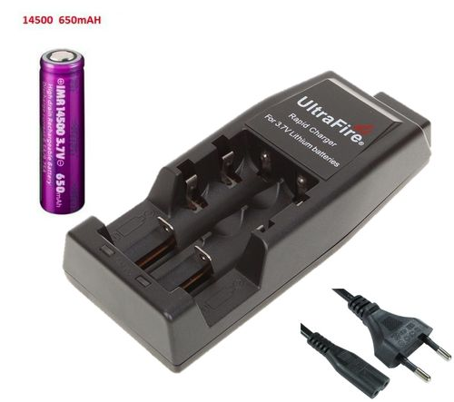 Ultrafire WF-139 Multifunctional Battery Charger 2-Pin Lead with 1 x EFEST 14500 Battery B