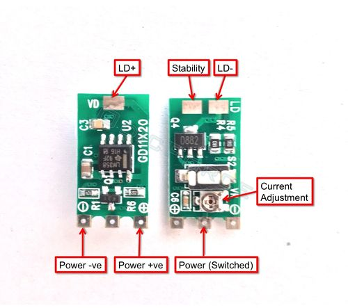 50 - 400mA LM358 Constant Current Driver, 3 5 -5 0V - Hand-held lasers and  Modules V2