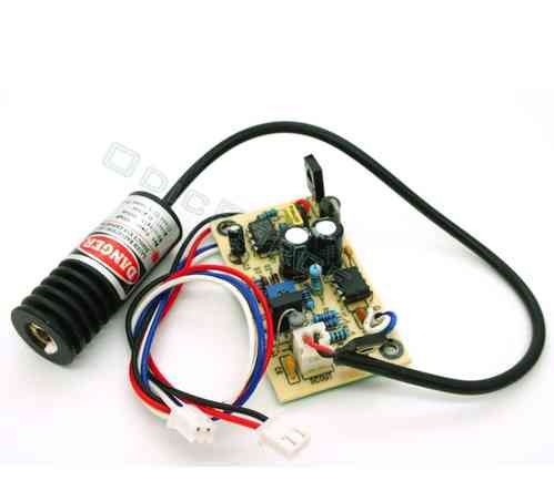 200mW Red (650nm) Laser Diode Module with 5V  Driver Board and TTL Control Cable (18mm)