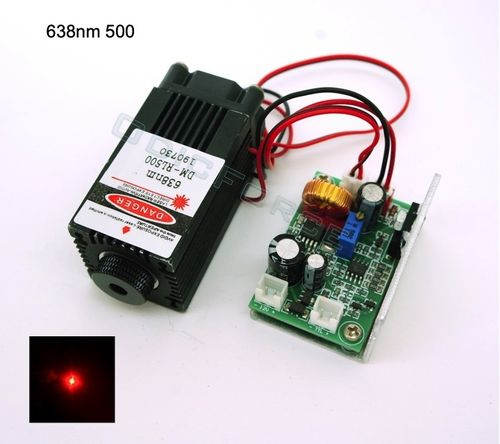500mW Red-orange (638nm) Adjustable Focus Module with TTL  Modulation (12V) RL500