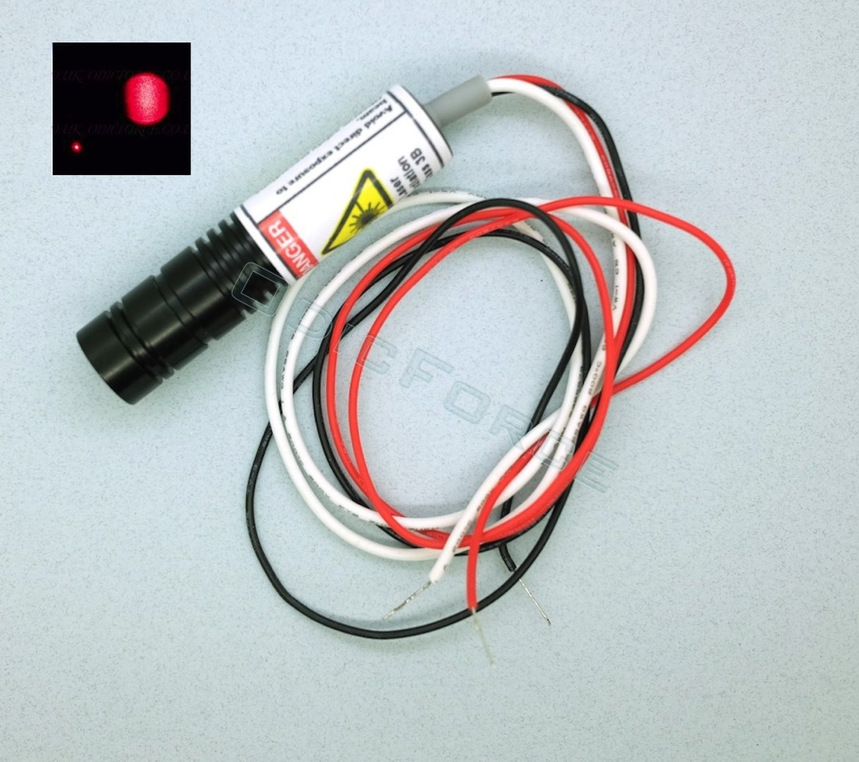 200mW Red (650nm) Laser Diode Module with Adjustable Locking Focus  TTL Modulation (16mm)