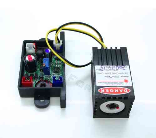 200mW Red (650nm) Laser Diode Module with 12V  TTL Driver Board and Heat Sink Mount R200D