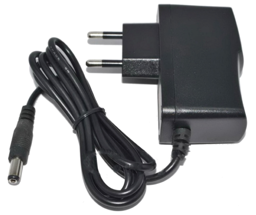 Euro Plug DC 5V 1A Switching Power Supply Adapter 100-240V Input, 5 5mm x  2 1mm Connector