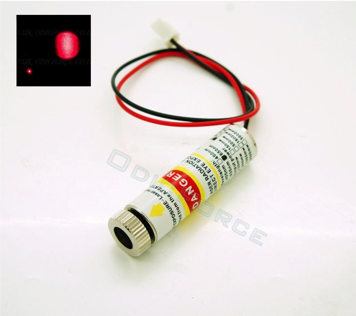 200mW Bright Red (650nm) 12mm Laser Module