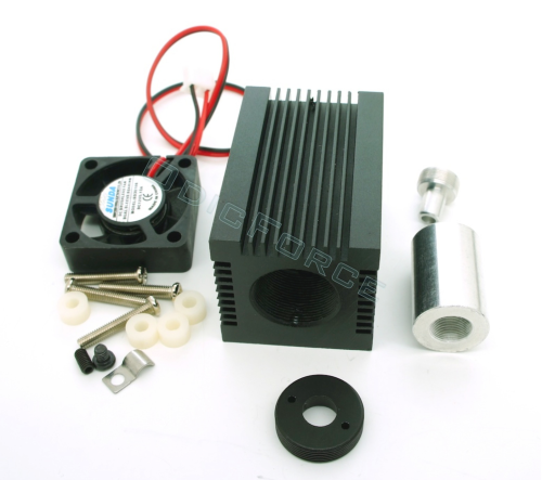 Heavy Duty Heatsink / Laser Diode Housing for 5.6mm Diodes with Fan
