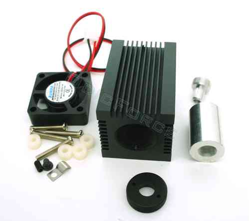 Heavy Duty Heatsink / Laser Diode Housing for 9.0 mm Diodes with Fan