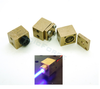 Brass Laser Diode Housing Block (9.0mm Diodes, 9mm Lens Thread)