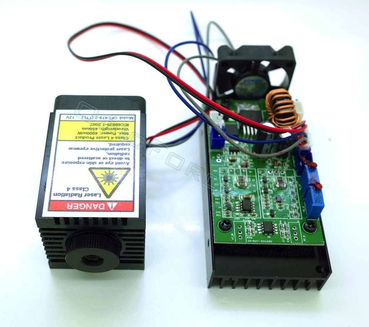 35w 450nm Blue Switchable Ttl Analogue Laser Module Adjustable Power Supply Monitor For Focus 12v Cnc