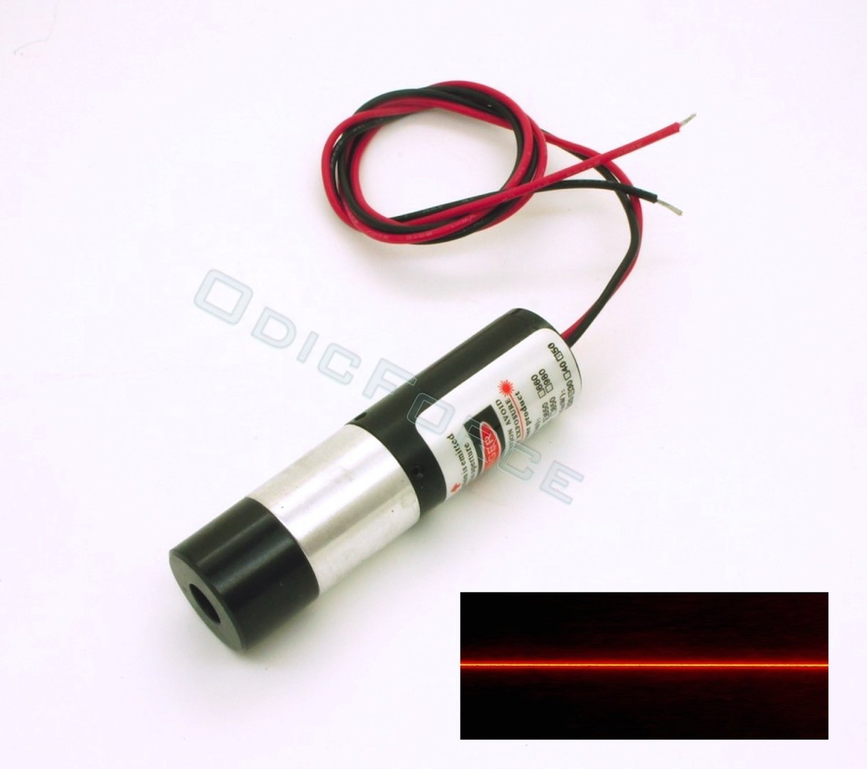 5mW Red (650nm)  Precision Line Laser Modules with Powell Lens 60 Degree Fan Angle