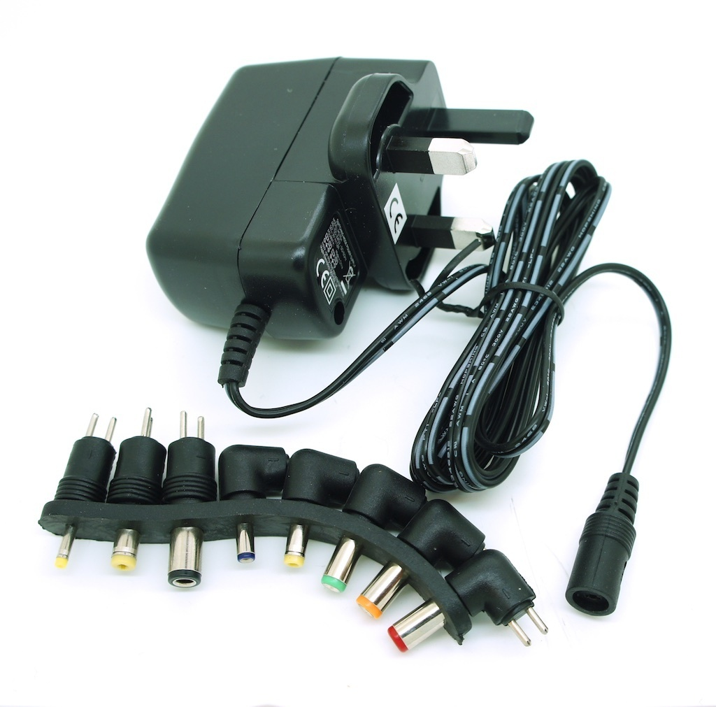 UK DC 3V 1.2A Switching Power Supply Adapter 100-240V Input,  with Connector Tip Set