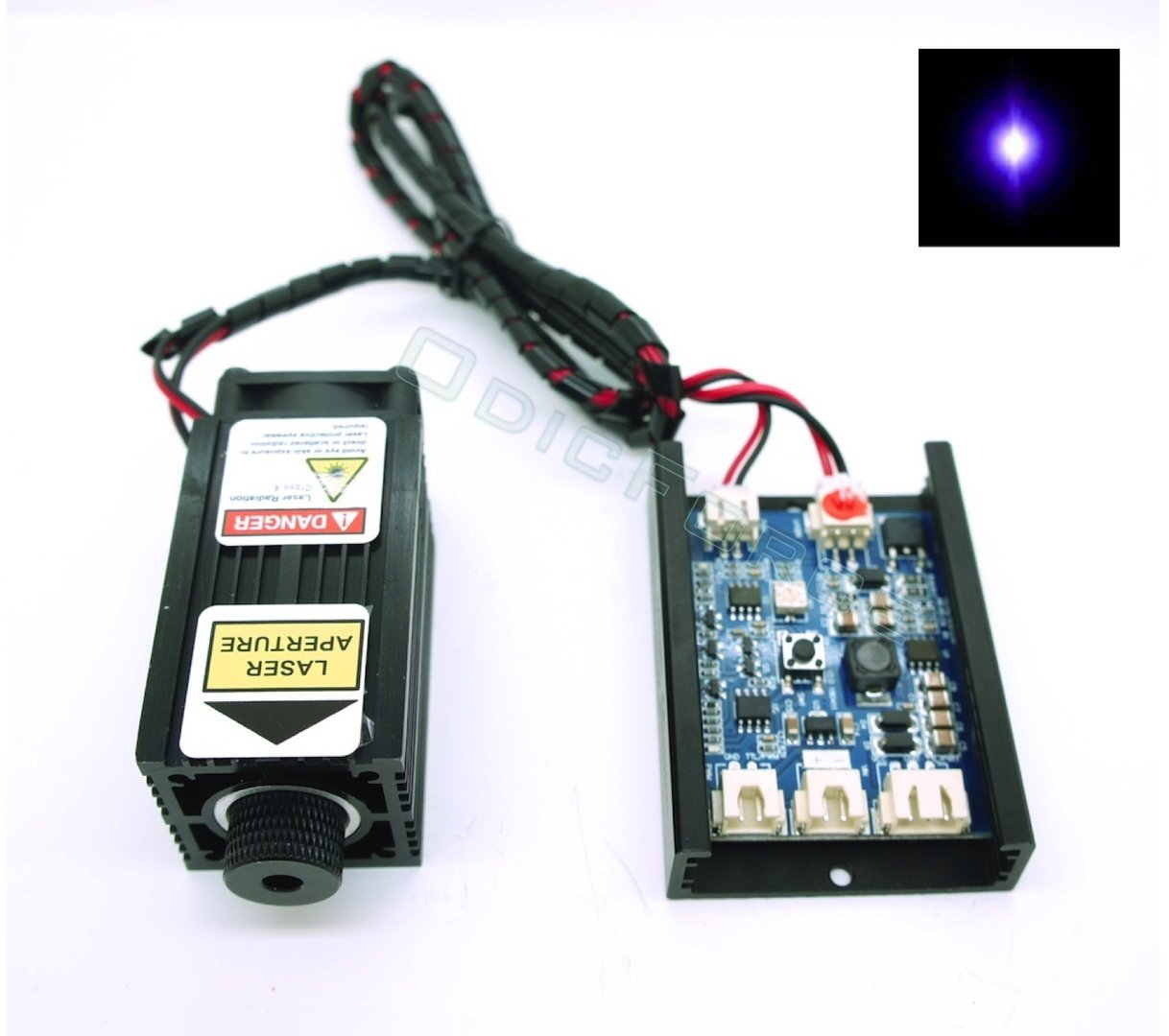 500mW 405nm (Bluray) Focusing Laser Module  12V