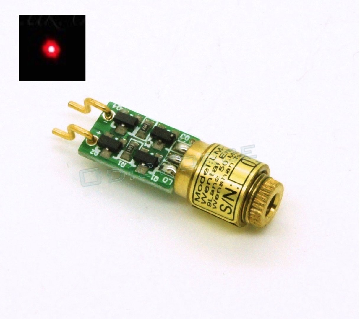 1mW Red (650nm) Dot Laser Module (8mm) Class 2 (EU1)