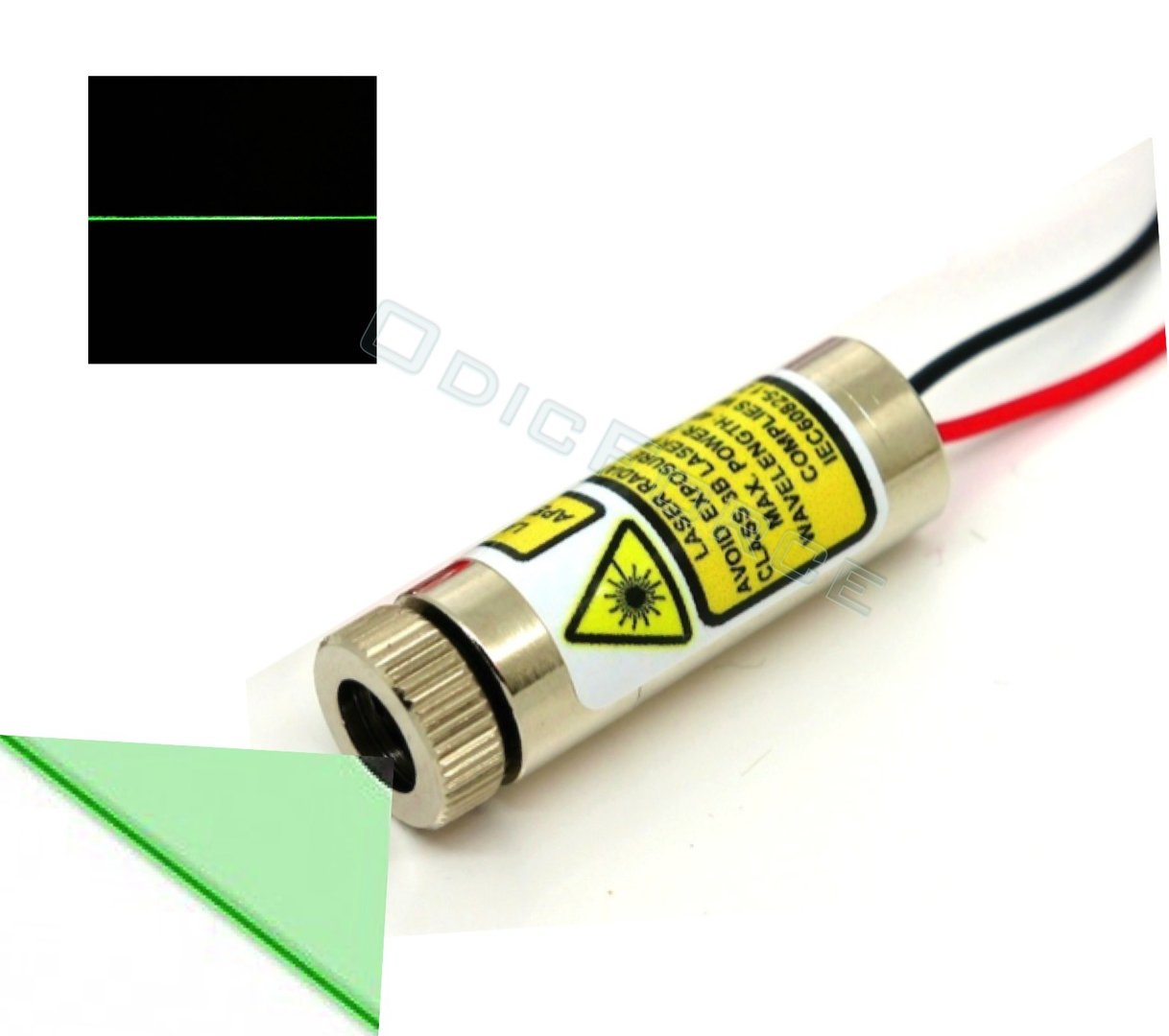 10mW Green (520nm)  Direct Diode Line Laser Module 3 - 5V (12 x 30mm)