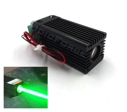 50mW Wide Beam (15mm)  515nm Green Laser Module with TTL Modulation (12V) (G50F)
